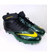 Nike Lunar Super Bad Pro Football Cleats 17 Green/Yellow Free Pr Socks NEW - $13.97