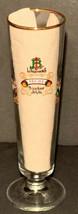 LINDEMANS GOLD RIM BEER GLASS - BELGIUM BREWERY - POMME-FRAMBOISE-KRIEK-... - $16.99