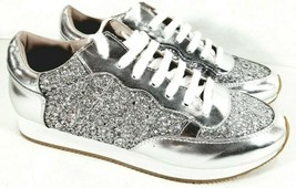 Kate Spade Felicia Silver Glitter Sneakers Shoes Size 9.5M US - $59.35