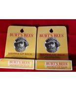 Burts Bees 100% Natural Moisturizing Lip Balm Peppermint BEESWAX Lot of 2 - $12.38