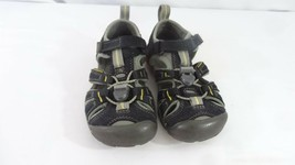 KEENS SEACAMP II CNX KIDS SZ 10 BLACK WATERPROOF WATER HIKING SANDALS! - $19.79
