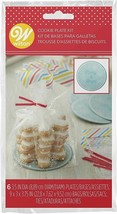 Snowflake Gift Kit 6 Ct Bags, Plates, and Ties for Treats, Apples, Cupcakes - $4.94