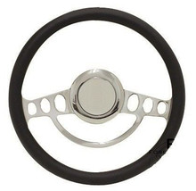 Chrome Hot Rod Steering Wheel Full Kit for GM Columns, Ididit, etc - Any Color! - $164.90