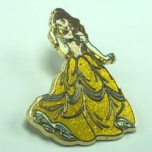 Walt Disney Pin Gold Pinback Trading Theme Park Princess Belle Beauty And Beast - $17.82