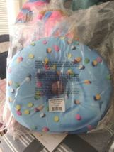 2 Scoops Scented Micro Bead Pillow Plush Blue Pink Classic Sprinkle Donut NWT image 6