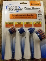 Sonic Scrubber Power Cleaner Pack of 4 Interchangeable Brush Head Replac... - $12.99