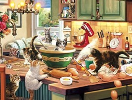 Buffalo Games - Cats Collection - Kitten Kitchen Capers - 750 Piece Jigsaw Puzzl - $14.40