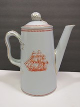 Copeland Spode Coffee Pot Trade Winds Red Newport Tall Ships Glory of Se... - $89.10