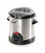 Presto Stainless Steel Electric Deep Fryer with Strainer Adjustable Heat... - $48.18