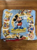 Vintage Sportline Disney Animated Cinema Sleeping Bag 34x69 Mickey Mouse... - $70.11