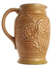 Vintage beige floral design jug - a/f - CLT231 - $12.88