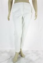 CHARTER CLUB Cotton Blend White Classic Fit Slim Leg Ankle Pants NWT 18 - $15.36