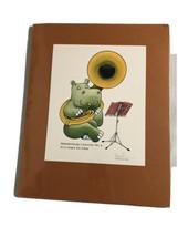 Russ Biernat Hippo Brandenburg Concerto No 4 In G Major Tuba Print Drawi... - $24.06