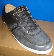 UGG BROOK-LIN Men's Two Tone Pewter Leather Sneakers US Size 11 NIB #100... - $979,83 MXN