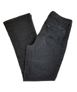 Riders by Lee black embellished mid rise boot cut spandex denim jeans 14... - £17.11 GBP