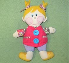"14"" Playskool Dressy Bessy 2001 Learn To Dress Baby Girl Plush Doll Plush Hasbro - $19.80"