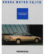 1987 HONDA CORPORATE Annual Report financial results brochure catalog Acura - $8.00
