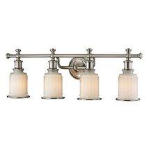 Elk Lighting 52003/4 Acadia Collection 4 Bath Light, Brushed Nickel - $346.50