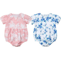 0 24M Newborn Infant Baby Girl Clothes Floral Short Sleeve Romper One Pi... - $10.99