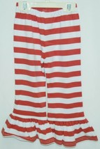 Blanks Boutique Girls Red White Stripe Ruffle Pants Size 2T image 2