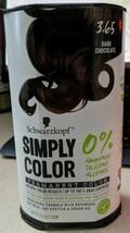 Schwarzkopf Simply Color Permanent Hair Color, Dark Chocolate 3.65 - $14.84
