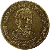 1861 - 1865 Abraham Lincoln Medal 16th President Actual Photos Shown Lot... - $2.15