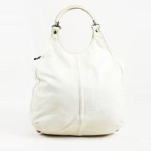Balenciaga Cream Chevre Leather Ring Handle Hobo Bag - $310.00