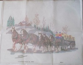 Candamar Needlepoint Printed Canvas 15612 Clydesdales Something Special ... - $24.74