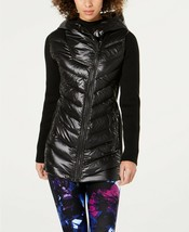 Calvin Klein Performance Asymmetrical Puffer Jacket Oxford Black - $107.10