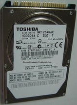 "New MK1234GAX Toshiba HDD2D16 120GB 2.5"" 9.5mm IDE 44pin Drive Free USA ... - $49.00"