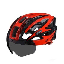 Bike Helmet Goggle with Lens Men Women Cycling Helmet Breathable Safety ... - $48.44
