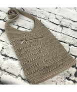 The Sak Tan Shoulder Bag Tote Crocheted Purse - $24.74