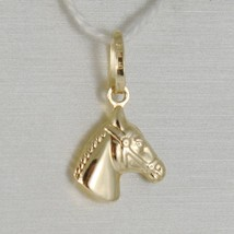 18K YELLOW GOLD HORSE HEAD CHARM PENDANT SMOOTH LUMINOUS BRIGHT MADE IN ... - $92.00