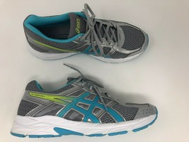 Asics Gel Contend Shoes Sneakers Womens 9.5 Blue & Gray Walking Running EUC - $24.13
