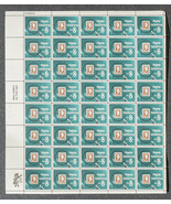 Stamp Collecting, Sheet of 8 cent stamps, 50 st... - $7.50