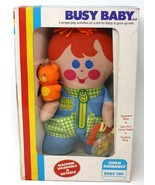 Child Guidance Lovey Doll Busy Baby Plush Teething Ring Squeaker Bear 1981 - $46.74