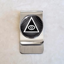 Illuminati All Seeing Eye Stainless Steel Money Clip - $20.00