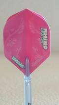 Winmau Rhino Pink Feathers Standard Dart Flight - $1.50