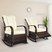 SCYL Color Your Life Set of 2 Indoor & Outdoor PE Wicker Rocking Chair P... - $333.36