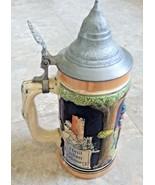 Heilt allen schmers Ein frohes Hers Beer stein with lid 24 oz Germany St... - $39.59