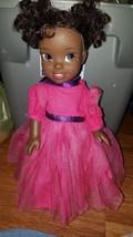 DISNEY PRINCESS BABY AFRICAN AMERCAN DOLL TIANA? PINK DRESS - $27.75