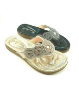 Verano Rio by Italina DFY0812 Thong Flat Rhinestone Sandals Choose Sz/Color - $34.00