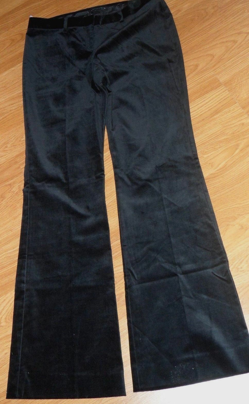 Primary image for *DREW FIT WOMEN'S PANTS SIZE 4 - 6 BLACK VELOUR STRETCH NWT