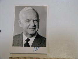 Heinrich Lübke Signature Autograph Photo Former Germany President 1959-1969 - $42.06