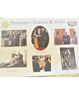 President Gerald  R. Ford  ceremonial collage with original authentic si... - $250.00