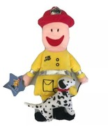 "Toffee Sticks Dolls Soft Plush Toy 14"" FDNY Fire Chief With Dalmation Ra... - $12.17"