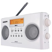 Digital Portable Stereo Receiver with AM/FM Radio (White)  - $114.99