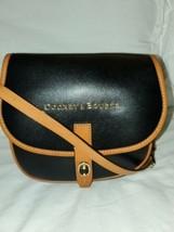 Dooney  Bourke Black Brown Leather Small Cross Body Shoulder Bag  - $79.13