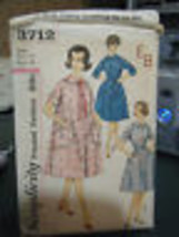 Vintage Simplicity 3712 Misses Robe Pattern - Size 14 Bust 34 - $9.25