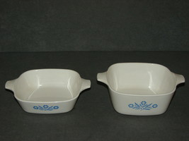 Corning Ware Blue Cornflower: Lot of 2 - P-41 Petite Pan + P-43-B 2 3/4 Cup Dish - $11.00